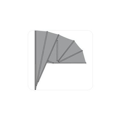 Hardhouten markies . de Luxe Kap Aluminium . KLAP MODEL