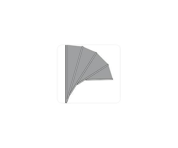 Hardhouten markies . de Luxe Kap Aluminium . PET MODEL