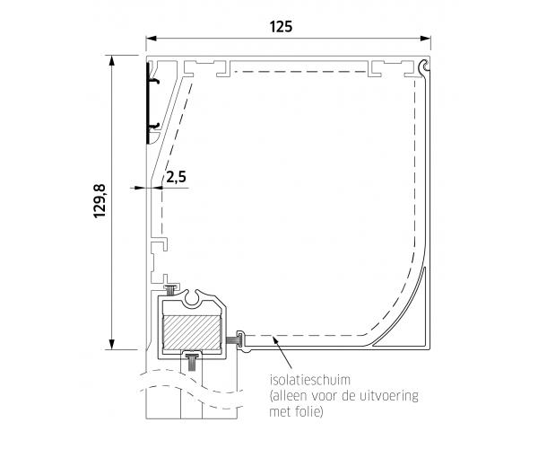 ZB TOP+ SMART ZIP 130  Super Windvast Vierkant