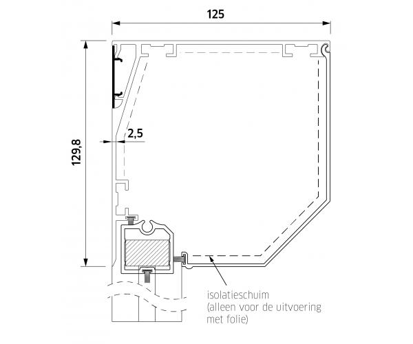 ZB TOP+ SMART ZIP 130  Super Windvast Schuin