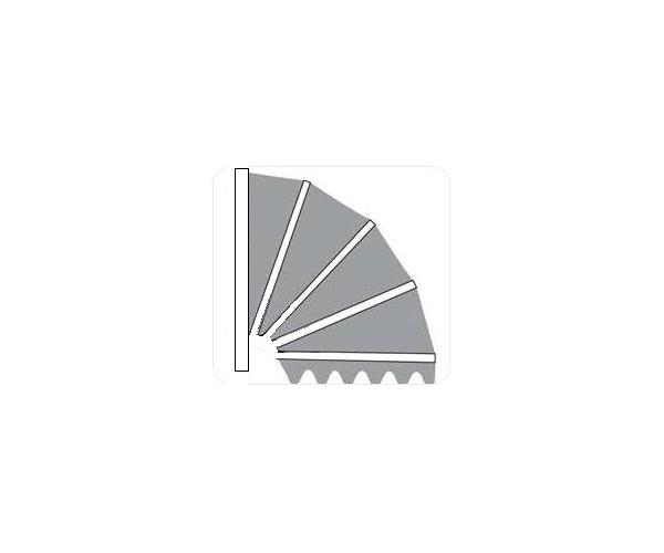 Aluminium markies . Standaard Kap Meranti