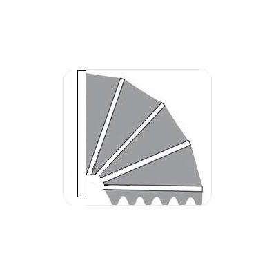 Aluminium markies . zonder kap