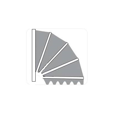 Hardhouten markies . de Luxe Kap  Aluminium